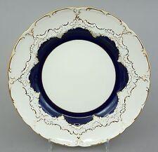 Meissen Teller, B-Form, kobaltblau und Gold, Durchmesser 19,5 cm, 1.Wahl #1/4