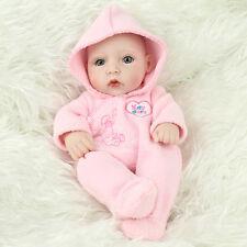 28cm Poupon Poupée Nouveau-né Bébé Réaliste Fille Reborn Jouet Baby Doll Newborn