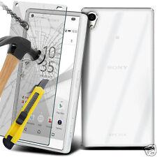 ULTRA DURABLE TRANSPARENT ÉTUI EN GEL TPU Housse & verre pour Sony Xperia Z5