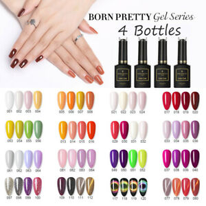 4 Bottles BORN PRETTY Pro 15ml Nail UV Gel Polish Soak Off Gel Polish UV Gel Set