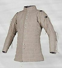 Renaissance Gambeson Thick Padded Armour Camel Color Full Sleeves Armor Theater