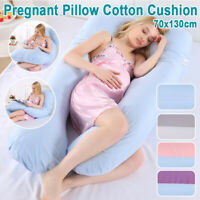 Pregnancy Pillow Cover U Shape Maternity Contoured Body Pregnant Feeding Cushion