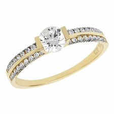 Solitaire with Accents Costume Rings without Theme unsizable