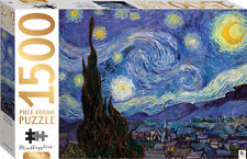 Mindbogglers Gold 1500pc Jigsaw Starry Night by Van Gogh Puzzle by Hinkler -
