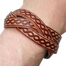 Brown Leather Surfer Bracelet Urban Fashion Wristband Bangle Mans Boy Woman Lady