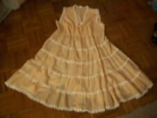VINTAGE SCHRANK OPEN FRONT TOP / DRESS TIERED & TRIMMED IN LACE SZ SMALL