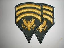US ARMY SPECIALIST 7 RANK PRE-1966 CUT EDGED -1 PAIR