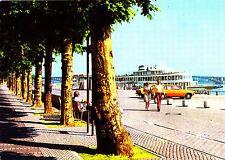 Mainz am Rhein , Am Rheinufer , Ansichtskarte, gelaufen