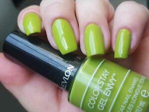 Revlon COLORSTAY GEL ENVY Nail Enamel Polish 220 IN THE MONEY Bright Lime Green!