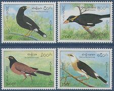 LAOS N°1169/1172**  oiseaux, 1995  Birds Sc#1213-1216 MNH