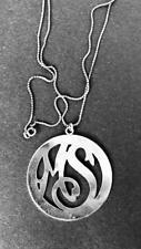 Chain ~ Initials Ms Mexico Silver Initialed Pendant and