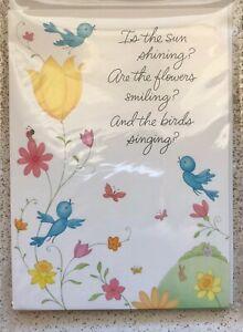 Hallmark Happy Easter Greeting Cards Package 6 & Sticker Sheet Blue Bird Bunny