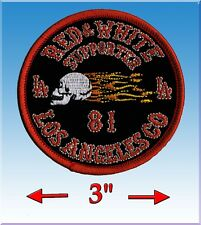 HELLS ANGELS BIG HOUSE CREW 'LA COUNTY SUPPORT PATCH' SUPPORT PATCH - WHITE