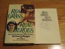 Boston Red Sox Little Professor DOM DIMAGGIO signed REAL HEROES Book To Arthur
