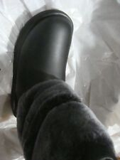 Sz 6.5 UGG BOOTS Reykir Waterproof Black Sheepskin Leather Womens 1018604