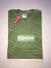 MAGLIETTA T-shirt SUPREME verde BOX LOGO verde SUPREME NEW YORK MAGLIA TEE GREEN