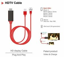 For iPhone Screen To TV Cable HDMI 1080p IOS Adapter USB Charger Converter 2M
