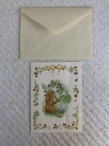 Floppy-Eared Bunnies CURRENT Easter Greeting Card Mary Morgan Card + Envelope