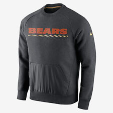 NIKE NFL CHICAGO BEARS HYBRID FLEECE SWEATSHIRT 727585-071 MEN'S SIZE MEDIUM