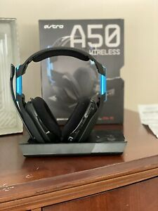 ASTRO Gaming A50 Wireless Headset & Base Station for PlayStation 4 - Black/Blue