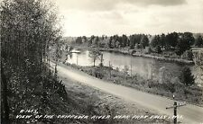 A View of the Chippewa River, Park Falls WI RPPC