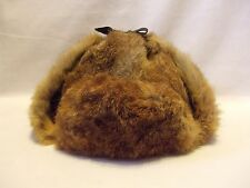 Vintage LL Bean North King Natural Rabbit Trapper Hat