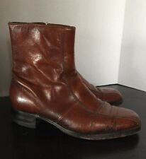 Vintage Florsheim Imperial Whisky Tan Leather Desert Style Boots Men's 9