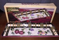 """ONEIDA KITCHEN """"STRAWBERRY PLAID"""" BREAD TRAY 18"""" LONG - EXCELLENT CONDITION"""