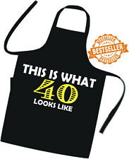 40th BIRTHDAY GIFT Printed Cooks Apron (This is what !!!) Tabard / Hotel / BBQ