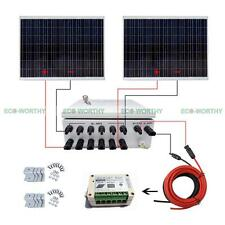 500W 2x250W Solar Panels with 15A Controller + 6 Strings Combiner Box for Car RV