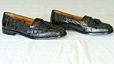 "NEW! $995+ MEZLAN ""RODEO"" Genuine Crocodile Alligator Loafers Shoes Boots 10.5"