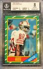 Jerry Rice 1986 Topps Rookie Card BGS 8