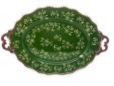 "Temp-tations Oval 18"" Platter Serving Tray, Fancy Handles T48801 K44467"