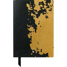 Montblanc 146 Calligraphy Edition Black Gold Lined Leather Notebook 119523