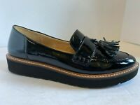 Naturalizer August Black Patent Slip On Loafers Women's Size 7.5M - Flat Shoes