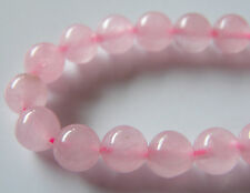50pcs 6mm Round Natural Gemstone Beads - Rose Quartz