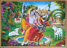 Radha Krishna Swinging - POSTER Big Size: 20x28 inches