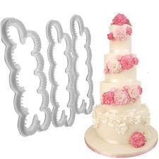 3PCS /Set Flor Pantilla Moldeador Molde Azúcar Torta Pastel Navidad