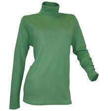 Damenblusen, - tops & -shirts mit Rollkragen aus Baumwolle