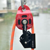 Rock Climbing Heavy Lift Pulling Prusik Rope Pulley Slackline Hauling Equipment