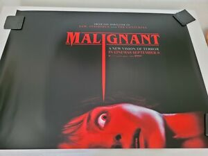 "Malignant ~ Original UK Quad Cinema Poster ~landscape double side 40"" x 30"""