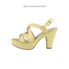 Sandalias y chanclas de mujer amarillos de piel, talla 41