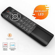 MT1 Backlit 2.4G Wireless Voice Remote Control IR Air Mouse for Smart TV Box PC