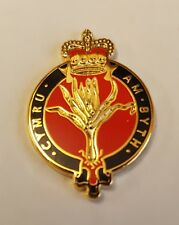 Enamel & Gilt metal Lapel Badge WELSH GUARDS