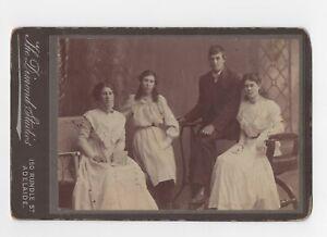 VINTAGE PHOTO FAMILY GROUP 1920s MOUNTED ON CARDBOARD DIMOND STUDIOS, ADELAIDE