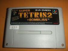 SUPER TETRIS 2 +BOMBLISS Limited Editio Nintendo Super Famicom software SFC SNES