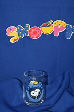 "Peanuts Snoopy 4"" Drinking Glass 40 Years of Happiness Glory Co."