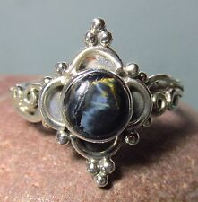Sterling silver cabochon Pietersite everyday ring UK L/US 5.75-6