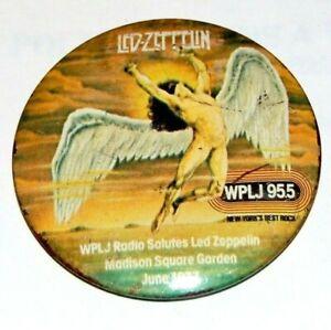 1977 Vintage LED ZEPPELIN WPLJ pinback button pin music musician memorabilia
