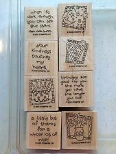 """Stampin up 2002 """"Quick and Cute"""" wood stamps ~ Retired"""